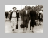 This image shows women from Palterton striding out on the promenade at Clethorpes.