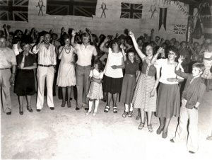 The Barn Dance - a few of the partygoers .