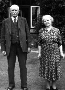 An image of George Godber and his wife Elizabeth 'Lizzie' nee Wholey.