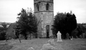 This 1990s image of Pleasley Parish Church where most of my Haslam ancestors were baptised, married and buried.
