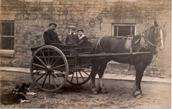 Joe Grimes horse and cart - he is on 1902 census