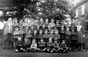An image of some of the scholars at Stainsby school c.1931. The Headmaster in the image is Mr. Reuben Fletcher