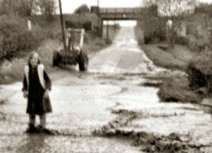 This image shows the Palterton and Sutton railway bridge that traversed Palterton Lane by the side of Stockley Farm.