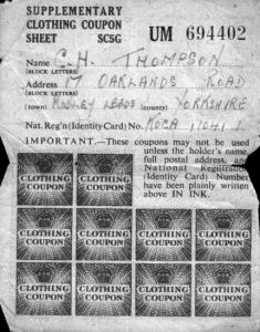 An image of Clothing coupons issued during WW2.