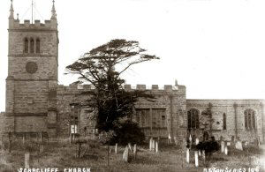 An early C20th. image of the parish church of St. Leonards, Scarcliffe.