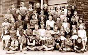 This photograph shows some of the pupils in 1948