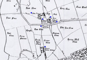 Part of the 1830 map showing the area where Samuel Richards was living.